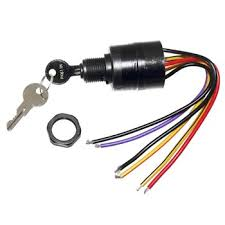 amazon com key switch, ignition 6 wire mercury sports & outdoors Trailer Wiring Harness at 1999 Force 120 Wiring Harness