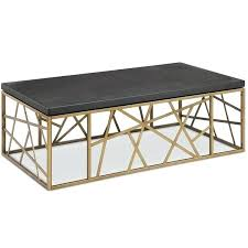 contemporary black and antique gold coffee table free today rose
