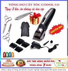 Mua 1 tặng 4] Tông đơ cắt tóc chuyên nghiệp công nghệ Hàn Quốc Codol 531  tăng đơ cắt tóc hớt tóc không dây sạc pin tông đơ codos cho gia đình