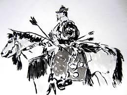 samurai original sumi e paintings