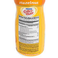 Corn syrup solids, hydrogenated vegetable oil, and sodium caseinate. Coffee Mate Nutrition Label Best Label Ideas 2019