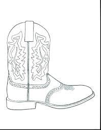 Cowboy Boots Coloring Page Momchilovtsiinfo