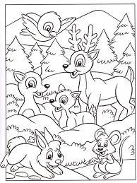 Coloriage 3 Ans Animaux Coloriage Animaux De La Foret L