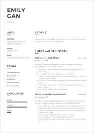 Sample Waitress Resumes Waitress Resume Example Waiter Resume Samples Example Of Waiter