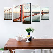 cool office wall art. Best Seller Office Wall Decor Canvas Printed Golden Gate Bridge Picture Painting Room Art Huge Modern Home Poster-in \u0026 Calligraphy From Cool