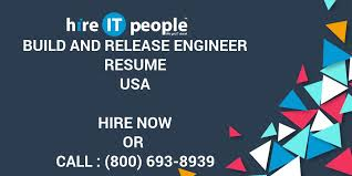 Build And Release Engineer Resume Hire It People We Get It Done