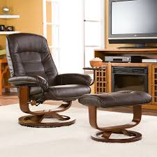 Small Recliners For Bedroom Bedroom Modern Brown Vinyl Reading Chair With Adjustable Back
