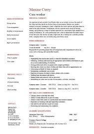 Case worker resume
