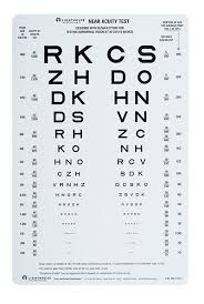 Vision Levels Chart Lighthouse Near Visual Acuity Test 1st Edition 9x14 Lh 9254