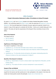 Letter To School Principle Letter To School Principal For Permission To Conduct Research In School