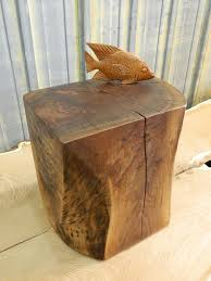 ... Creative Home Furniture Designs Using Tree Stump End Tables : Charming  Home Furniture Designs Using Rectangular ...