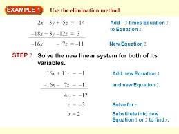 how to use elimination method math use the elimination method elimination method math papa