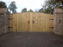 wooden gates steel frame gibidi