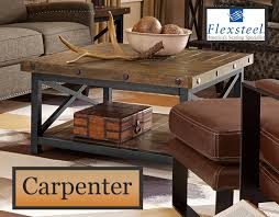 cocktail table square flexsteel carpenter collection
