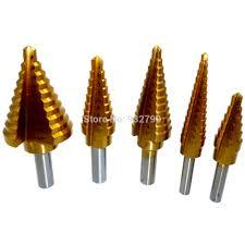 step down drill bit. 5pcs high speed steel step down drill bits 1/4--1-3 bit b