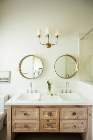 this natural wood vanity provides a rich mature tone for otherwise neutral bathroom83