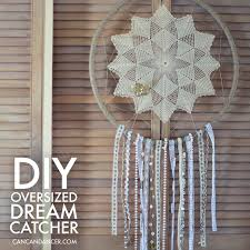 What To Use For A Dream Catcher Hoop DIY Oversized Dreamcatcher Can Can Dancer 14