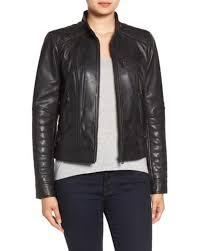 Lyst - Bernardo Quilted Leather Moto Jacket in Black & Bernardo   Black Quilted Leather Moto Jacket   Lyst Adamdwight.com