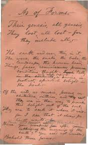 best images about walt whitman electric fires walt whitman s handwritten poem as of forms never published in his lifetime