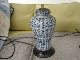 t blue and white table lamps bought from marks and spencer very nice condition in burton on t staffordshire gumtree