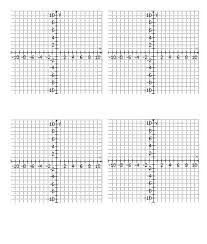 Four Quadrant Graph Paper One First Printable 4 Up With