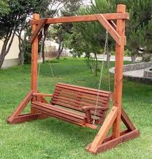 Small Picture Forever Redwood Garden Bench Swing Set Perfect Arbors