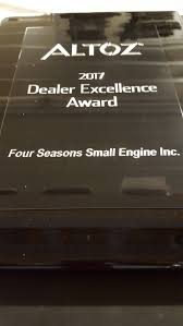 the four seasons small engine dealer excellence award