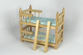 unfinished dollhouse furniture. Unfinished Bunk Bed In Oak Dollhouse Furniture