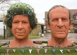queen fingers made from a mixture of plaster and terracotta the statues stand at