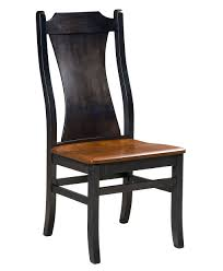 Wooden chair side Commercial Barrington Amish Dining Chair side Amish Direct Furniture Barrington Dining Chair Amish Direct Furniture