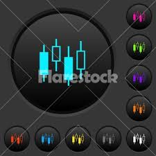 Push Stock Chart Candlestick Chart Dark Push Buttons With Color Icons Stock