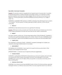 executive summary example business 30 perfect executive summary examples templates template lab