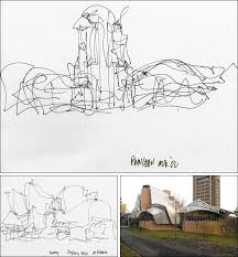 architectural drawings of famous buildings. A 2002 Sketch, Top, By The Architect Frank Gehry For Peter B. Architectural Drawings Of Famous Buildings 2