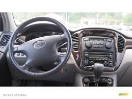 2003 Toyota Highlander Limited Charcoal Dashboard Photo #49796699 ...