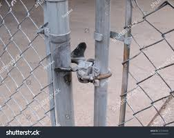 chain link fence gate lock. Chain Link Fence And Gate Latch Closeup Photo. Chain Lock C