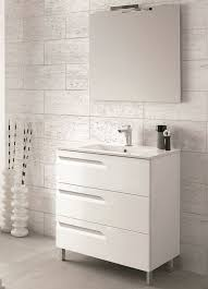 modern white bathroom cabinets. 24 inch modern white single sink bathroom vanity with integrated porcelain sink, 3 functioning drawers, soft closing made in spain cabinets r