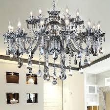smoke crystal chandelier welles smoke crystal rectangular chandelier 49