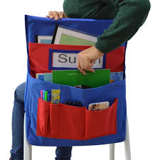 Chair Storage Pocket Chart Us 9 99 Godery Chairback Buddy Pocket Chart Canvas Seatback Stuff Storage Pocket Home Classroom Group Team Organizers For Child In Briefcases