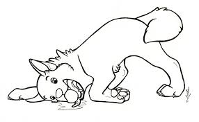 Simplified Yellow Lab Puppy Coloring Pages Lab 2346 Unknown
