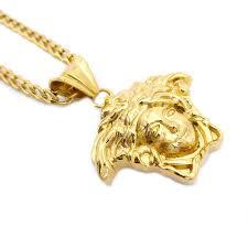 gold medium medusa pendant with cuban chain med 004medusa pendants gold pendants mandilax customized jewelry in lagos nigeria