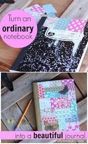 Diy Journal Cover Design Ideas The Beautiful Mess Notebook Diyproject Craft Tutorial