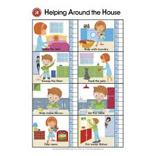 How To Make House With Chart Paper Learning Can Be Fun Wall Chart Helping Around The House