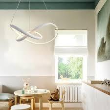 modern nature white led pendant light chandelier ceiling lighting fixture for living kitchen kids