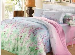high quality past style fl patterns 4 pieces tencel bedding sets