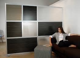 ikea wall divider studio flat: outstanding interior decoration affordable  non permanent room dividers ideas with alumunium frames added hardwood  panels as ...