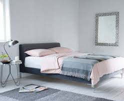 modern upholstered bed. Chrome Bed In Our Slate Clever Velvet Modern Upholstered