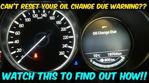 2016 2018 Mazda 6 Oil Change Maintenance Due Light Reset