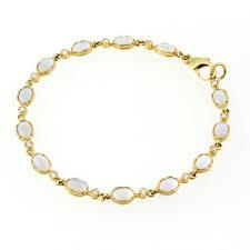 9ct yellow gold pave set opal diamond bracelet gemstone bracelets from mr harold and son uk