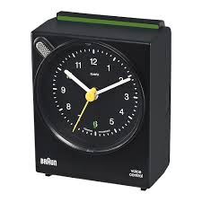 braun activated alarm clock black