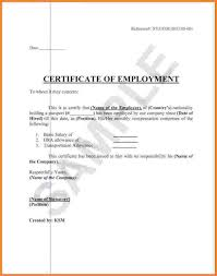 Letter Requesting Certificate Of Employment As Request Letter For